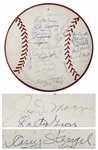 Artwork Signed by 28 Baseball Players Including Joe DiMaggio, Dizzy Dean and Casey Stengel