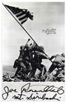 Joe Rosenthal Signed 10 x 12.75 Photo of Iwo Jima Flag Raising
