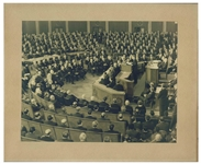 Photo of John F. Kennedy Giving the 1963 State of the Union Address Before Congress -- Large Photo Measures 13.5 x 10.5
