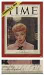 Lucille Ball Signed Time Magazine From 1952
