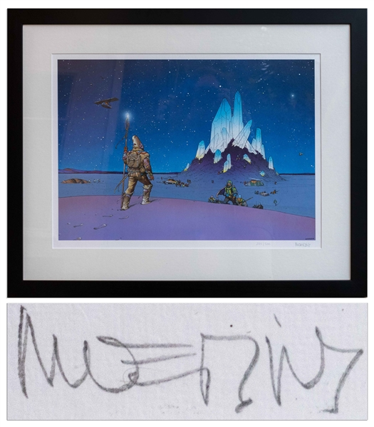 Moebius Signed ''Crystal'' Limited Edition Serigraph -- Large Artwork Measures 31.625'' x 25.25'' Framed, in Near Fine Condition