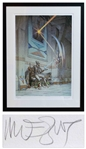 Moebius Signed Starwatcher 6 Limited Edition Serigraph -- Large Artwork Measures 31 x 41.5 Framed, in Near Fine Condition