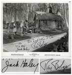Ray Bolger and Jack Haley Signed 10 x 8 Wizard of Oz Photo