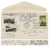 Iwo Jima First Day Cover Signed by All Three of the Flag Raisers: Rene Gagnon, Ira Hayes & John Bradley
