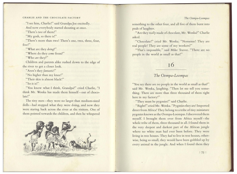 Roald Dahl ''Charlie and the Chocolate Factory'' First Printing in First Printing Dust Jacket