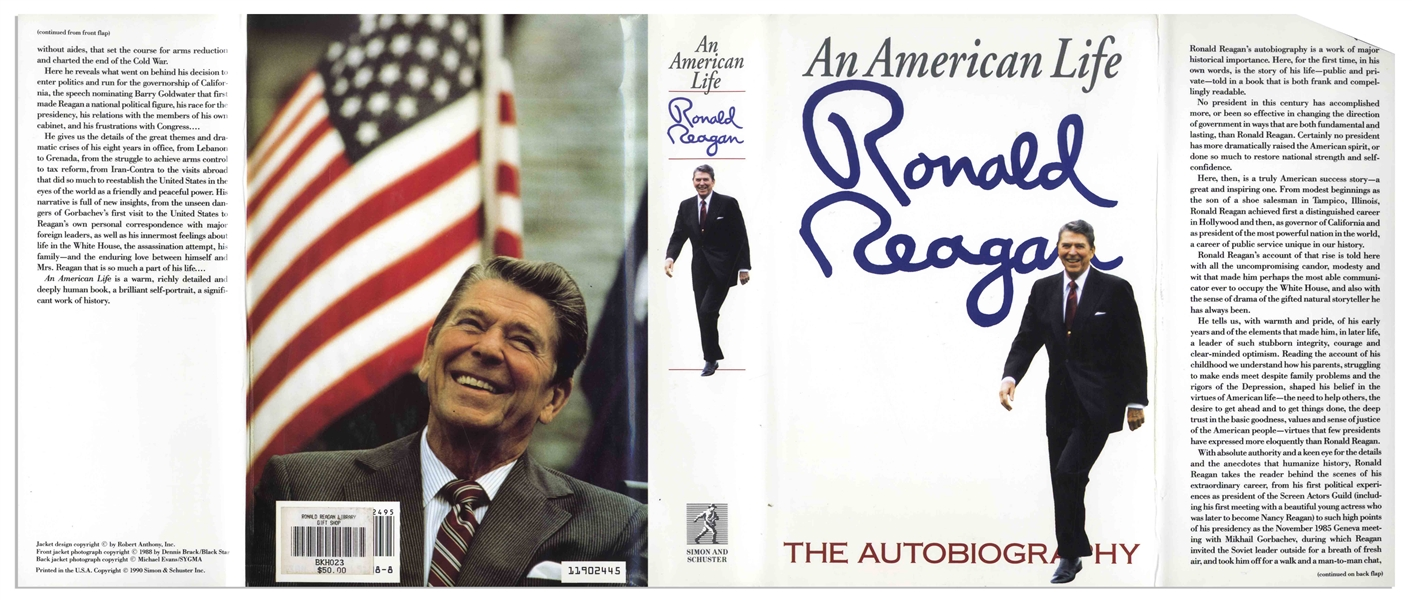 Ronald Reagan Signed First Edition of His Autobiography ''An American Life''