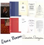 Ronald & Nancy Reagan Signed Books -- The President Signs His Book Speaking My Mind & the First Lady Signs Her Memoir My Turn