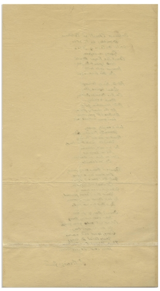 Sabine Baring-Gould Autograph Lyrics Signed to His Iconic Hymn, ''Onward, Christian Soldiers''