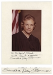 Sandra Day OConnor Signed Presentation Photo