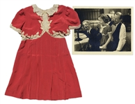 Shirley Temple Screen-Worn Silk Dress From 1938 Film Little Miss Broadway