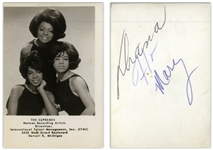 The Supremes Photo Signed by all 3, Including Florence Ballard -- With Epperson COA