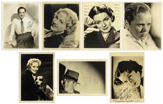 Lot of Seven Hollywood Signed Photos -- Including Rare Signed Photo of Ted Healy
