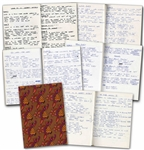 The Whos John Entwistles Notebook Filled With Over 16 Handwritten Lyrics to His Songs Too Late the Hero, Talk Dirty, Love is a Heart Attack, Im Coming Back, Lovebird & Many More