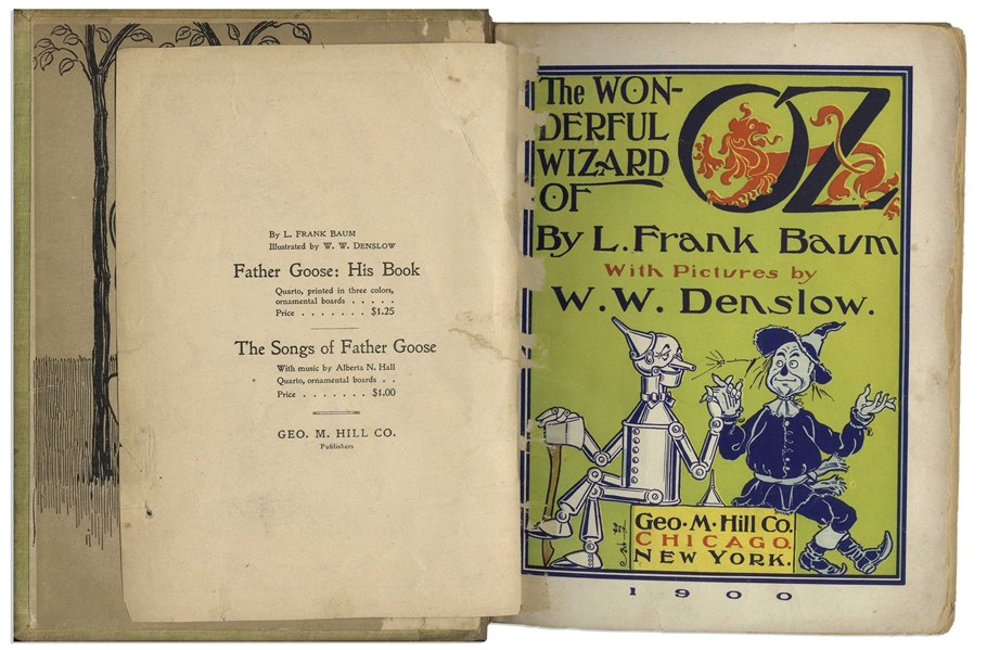 L. Frank Baum's ''The Wonderful Wizard of Oz'' First Edition, Second State