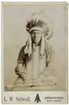 Sioux Chief High Bear 19th Century Cabinet Photo by Lucien W. Stilwell