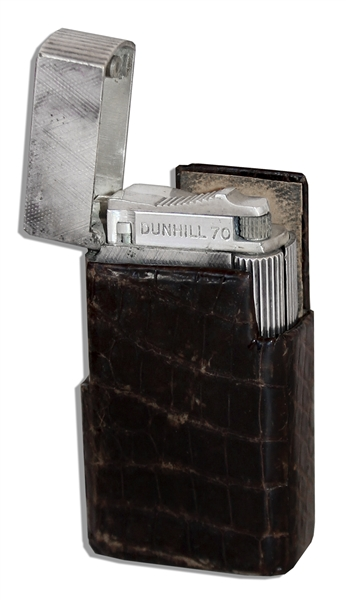Marlene Dietrich Personally Owned Cigarette Lighter & Leather Case