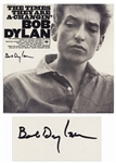 Bob Dylan Signed Album The Times They Are A-Changin -- With Roger Epperson, Jeff Rosen & PSA/DNA COAs
