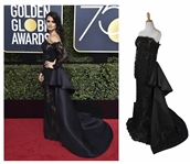 Penelope Cruzs Gown Worn at the 75th Golden Globe Awards in 2018 -- Black Gown Sold to Benefit TIMES UP
