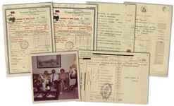 Oskar and Emilie Schindler Archive Concerning Their Move to Argentina After World War II -- Including Oskars Boarding Document to Leave Europe