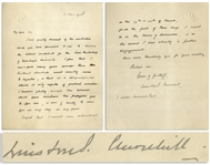 Winston Churchill Autograph Letter Signed -- ...I am a good many years younger than Rectorial standards would usually seem to require...a disqualification...only capable of gradual correction...