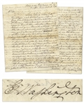 Exceptional George Washington Autograph Letter Signed on 24 September 1777, Two Days Before the British Captured Philadelphia -- ...strike up the country without getting nearer to the Enemy...