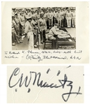 Admiral Chester Nimitz Signed Photo of the Japanese Surrender