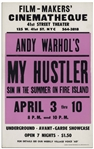 Movie Poster for the Andy Warhol Film My Hustler -- Near Fine Condition