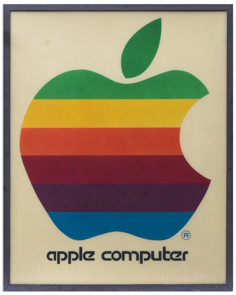 Original Apple Computer, Inc. Signs Measuring Over 4' x 5' -- One of the Earliest Apple Retail Signs, Circa 1978