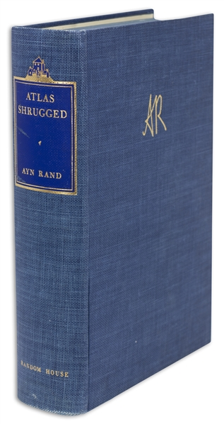 Ayn Rand Signed ''Atlas Shrugged'' -- Number 1,780 in a Special 10th Anniversary Edition Limited to 2,000, With Rare Slipcase