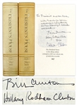 Bill Clinton Book Signed as President, Inscribed to Former President Gerald Ford -- Handsome Deluxe Limited Edition Leather Bound Set of The Presidents House