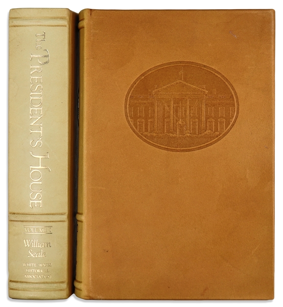 Bill Clinton Book Signed as President, Inscribed to Former President Gerald Ford -- Handsome Deluxe Limited Edition Leather Bound Set of ''The President's House''