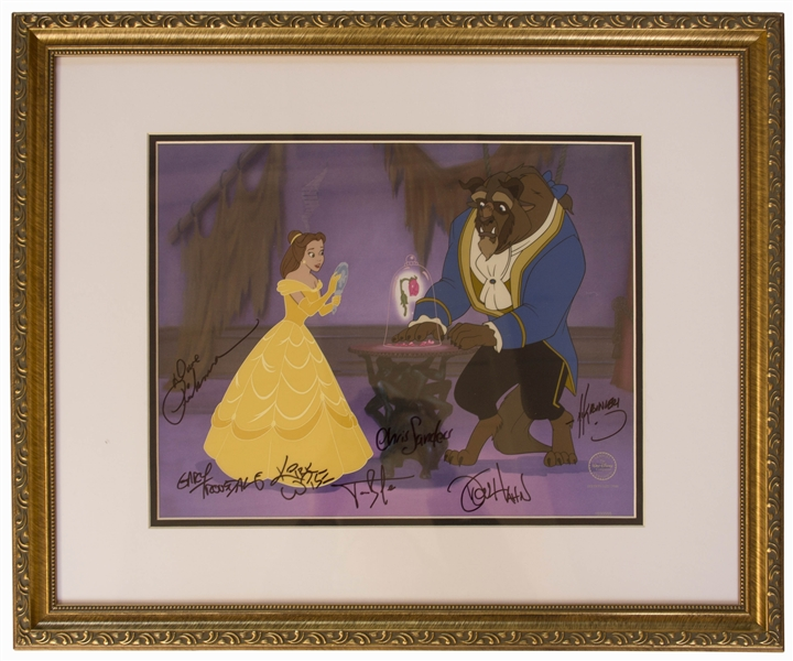 Disney Limited Edition Sericel of ''Reflection of Love'' From ''Beauty and the Beast'' -- Signed by Seven of the Animators & Directors on the 1991 Academy Award Winning Film