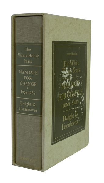 Dwight D. Eisenhower Signed Limited Edition of His Memoir, ''The White House Years'' -- Uninscribed, #923 of the Limited Edition
