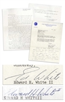 Edward White Pair of Letters Signed, Including One With an Autograph Note Just After Gemini IV -- What a ride that was!