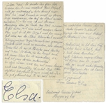 Elsa Einstein 1933 Autograph Letter Signed After the Passing of Her Daughter, Ilse -- ...most sensitive and generous...A strong and highly intelligent personality. Albert...knows that as well...