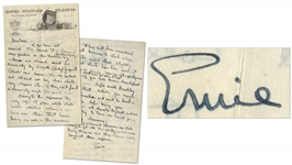 Ernest Hemingway Autograph Letter Signed -- ...bring your shortwave set down to Key West and we could try to turn an honest penny running Chinamen...