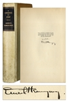 Ernest Hemingway First Limited Edition of A Farewell to Arms -- Signed by Hemingway
