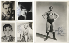 George Reeves as Superman Signed 8 x 10 Photo -- Included With Archive of Signed Photos by Doris Day, Vincent Price, Jerry Mathers & Julie Andrews