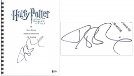 J.K. Rowling Signed Screenplay for Harry Potter and the Goblet of Fire -- With Beckett COA