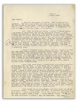 Hunter S. Thompson Typed Letter From 1964 With Hand-Annotations -- ...I am going to California, and for no particular reason...God fuck us all...