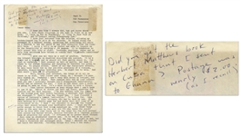 Hunter S. Thompson Letter From 1964 -- ...Gone creepy sentimental, like Salinger, who may be dead by now. Ah this writing is a shitty game and god knows what will come of my involvement in it...