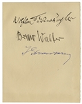Igor Stravinsky, Bruno Walter and Wilhem Furtwangler Signed Album Page -- Large Page Measures 6.75 x 8.5