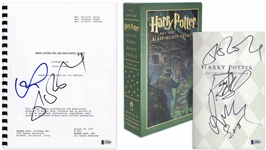 J.K. Rowling, Daniel Radcliffe, Emma Watson & Rupert Grint Signed Deluxe Edition of Harry Potter and the Half-Blood Prince -- Plus J.K. Rowling & Rupert Grint Signed Screenplay -- With Beckett COA