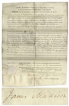James Madison Land Grant Signed as President