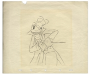 Ward Kimball Drawing of the Band Leader From Woodland Cafe