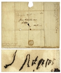 John Adams Free Franked Signature -- With University Archives COA