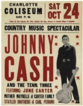 Fantastic, Large Johnny Cash Poster From 1970 -- Measures 22 x 28