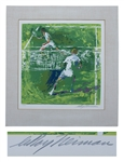 LeRoy Neiman Signed Limited Edition Silkscreen of Tennis Players