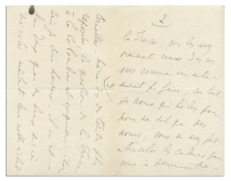 Marcel Proust Autograph Letter Signed From 1917 -- ''...it is lovely that these well-deserved successes add their noble radiance to your mourning...''