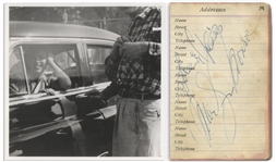 Marilyn Monroe Signed Address Book -- Love & Kisses / Marilyn Monroe